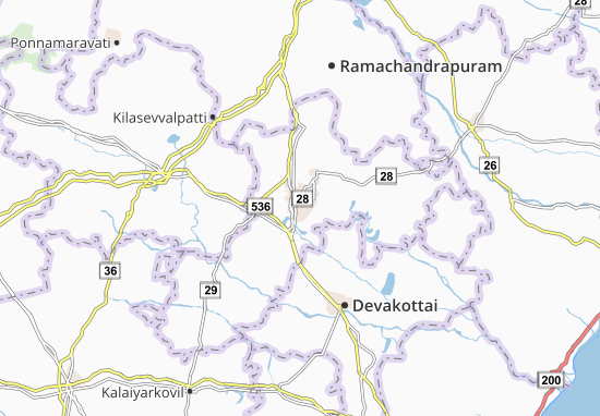 Mappe-Piantine Karaikkudi