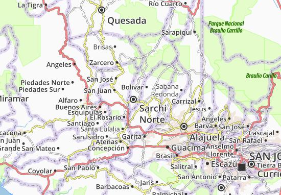 Kaart Plattegrond Castro