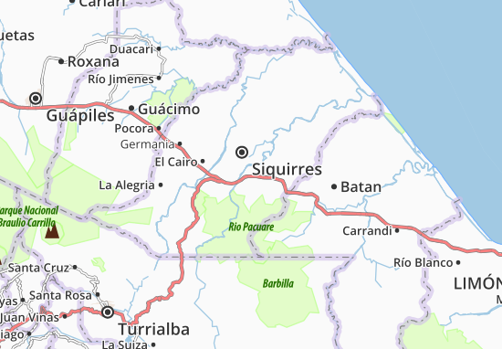 Carte-Plan Pacuarito