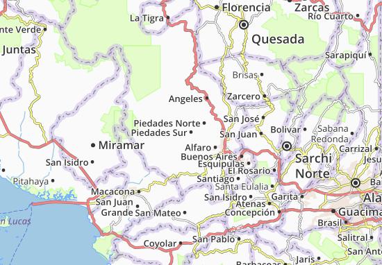 Piedades Sur Map