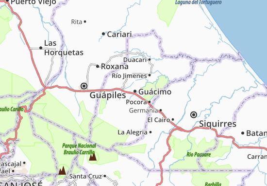 Costa Rica Karte Sehenswurdigkeiten.Karte Stadtplan Guacimo Viamichelin