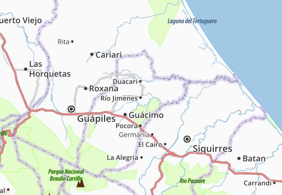Carte-Plan Río Jimenes