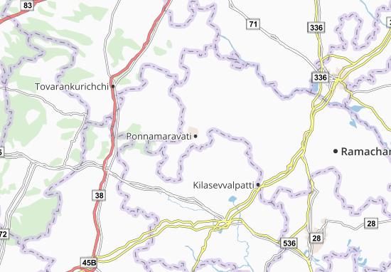 Ponnamaravati Map