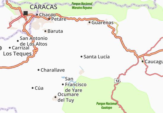 Carte-Plan Santa Lucía