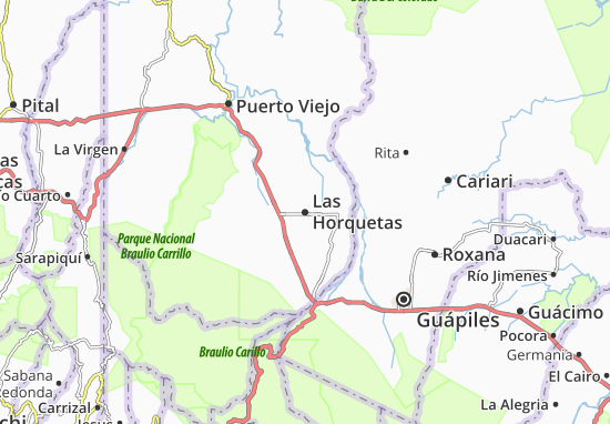 Mappe-Piantine Las Horquetas