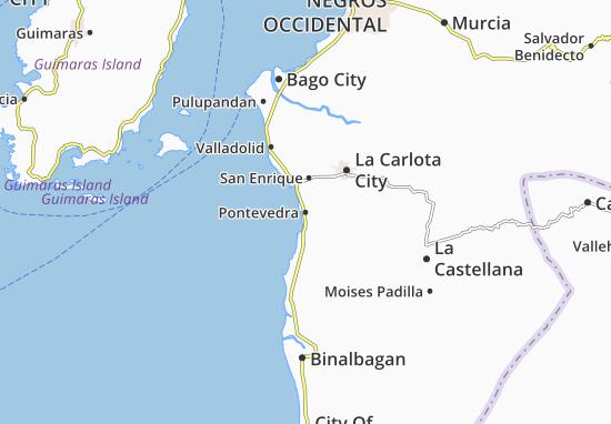 Carte-Plan Pontevedra