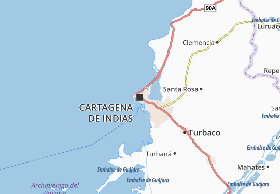 on cartagena colombia map