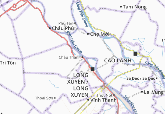 Carte-Plan Châu Thành