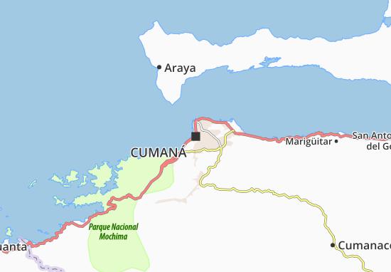 Mapa Cumaná - plano Cumaná- ViaMichelin