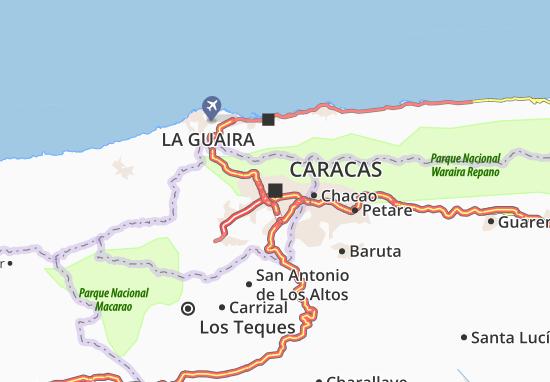 Caracas Map: Detailed maps for the city of Caracas - ViaMichelin on