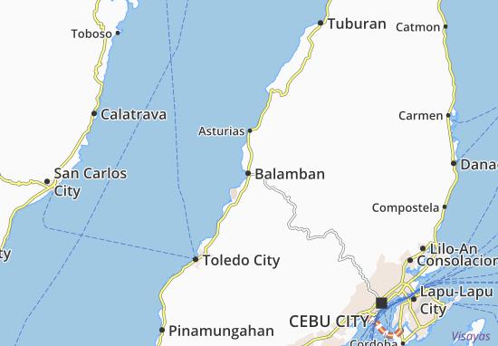 Map Of Balamban Michelin Balamban Map Viamichelin