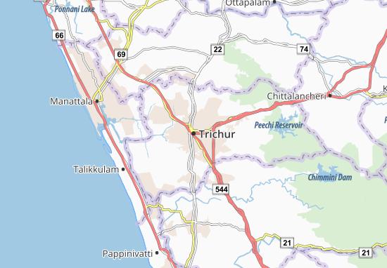 Trichur Map