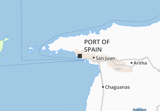 Carte-Plan Port of Spain
