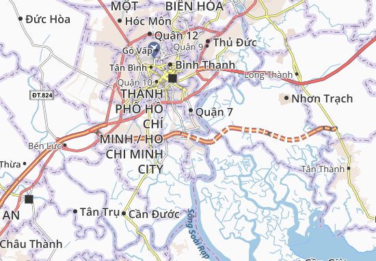 Mapas-Planos Nhà Bè