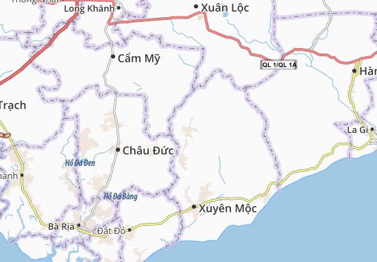 Kaart Plattegrond Bàu Lâm