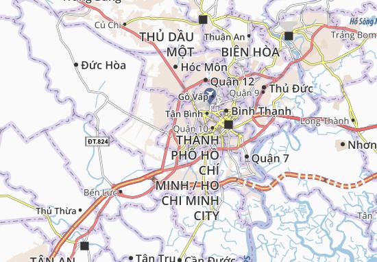Carte-Plan Bình Trị Đông