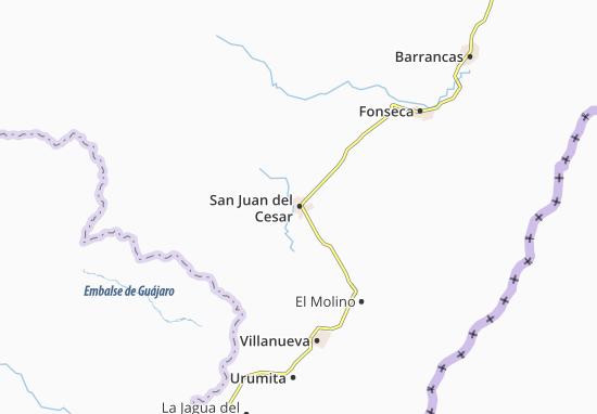 Carte-Plan San Juan del Cesar