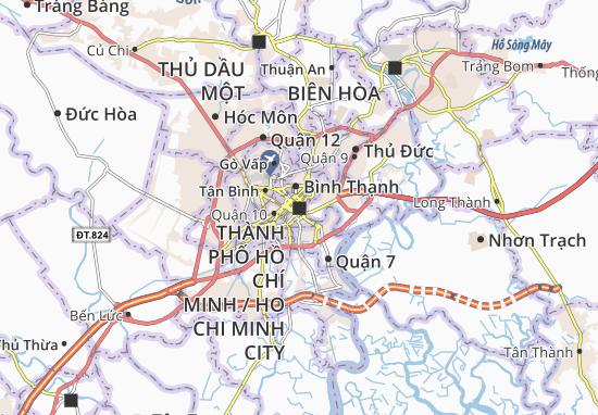 Carte-Plan Thành phố Hồ Chí Minh