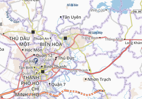 Mapas-Planos Long Bình Tân