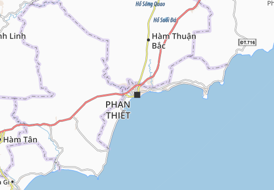 Phan Thiết Map: Detailed maps for the city of Phan Thiết