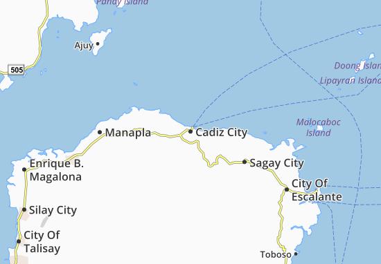 Mappe-Piantine Cadiz City