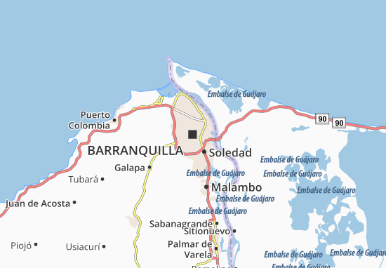 Barranquilla Colombia Map Barranquilla Map: Detailed maps for the city of Barranquilla