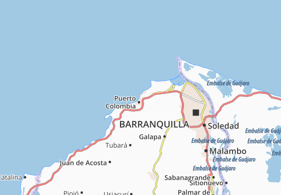 Map of Miramar Michelin Miramar map ViaMichelin – Colombia Tourist Attractions Map