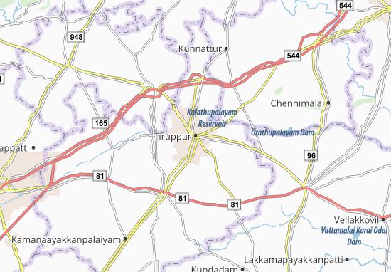 Mapas-Planos Tiruppur