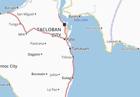 Kaart Plattegrond Tanauan