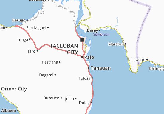 Kaart Plattegrond Palo