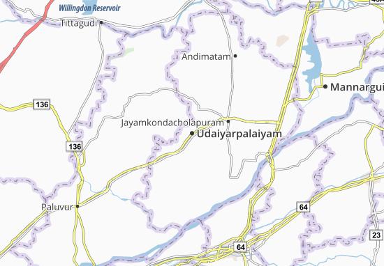 Udaiyarpalaiyam Map