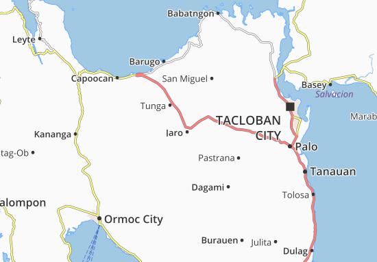 Kaart Plattegrond Jaro