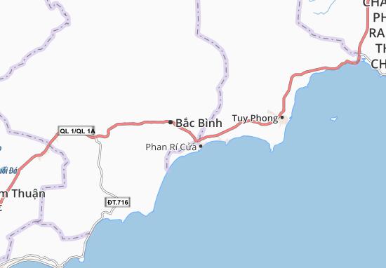 Phan Rí Thành Map