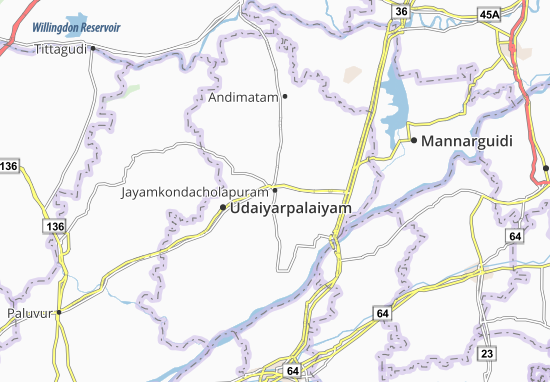 Mapas-Planos Jayamkondacholapuram