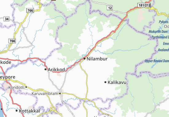 Kaart Plattegrond Nilambur