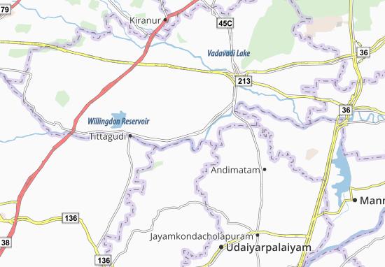 Carte-Plan Pennadam