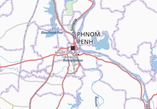 Kaart Plattegrond Khum Chbar Ampou