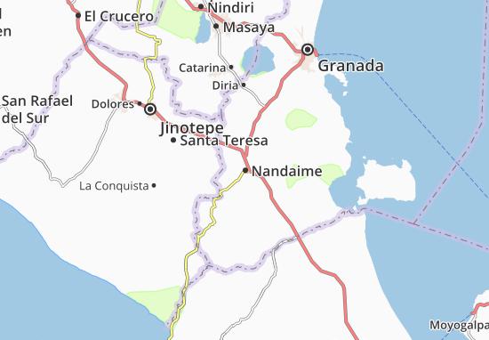 Nandaime Map