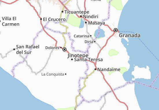 La Paz de Carazo Map