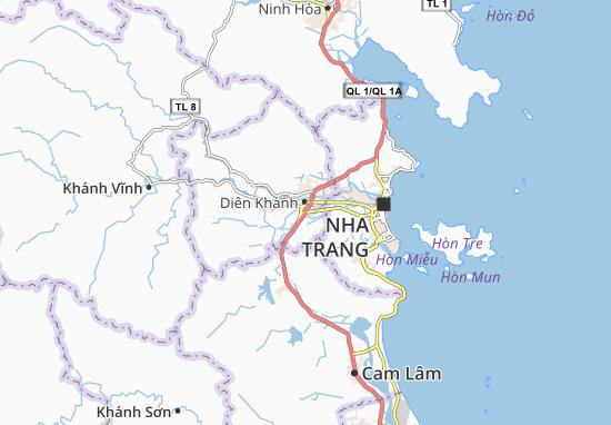 Kaart Plattegrond Diên Toàn