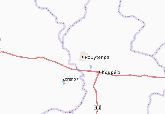Kaart Plattegrond Pouytenga