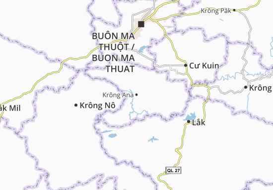 Kaart Plattegrond Krông Ana