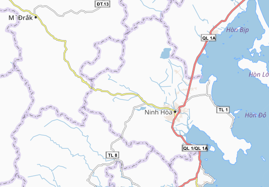 Carte-Plan Ninh Sim