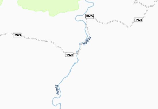 Kaart Plattegrond Bafing-Makana