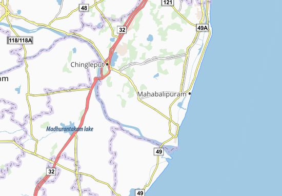 Mappe-Piantine Tirukkalukkunram