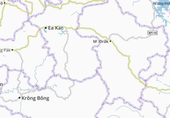 Kaart Plattegrond Cư Yang