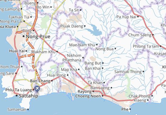 Nikhom Phatthana Map
