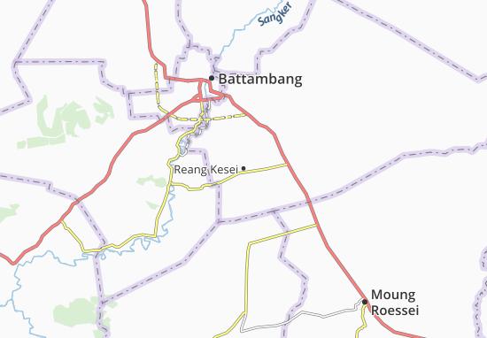 Reang Kesei Map