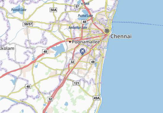Map of Pallavaram - Michelin Pallavaram map - ViaMichelin Chennai Direction Map on