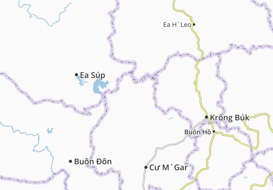 Ea Kuêh Map